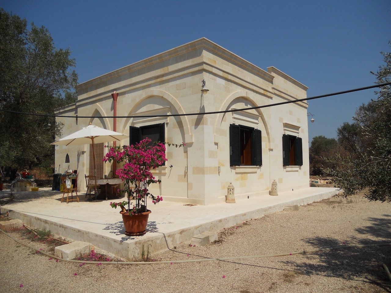 Newly built home for sale in Puglia Italy, with olive grove
