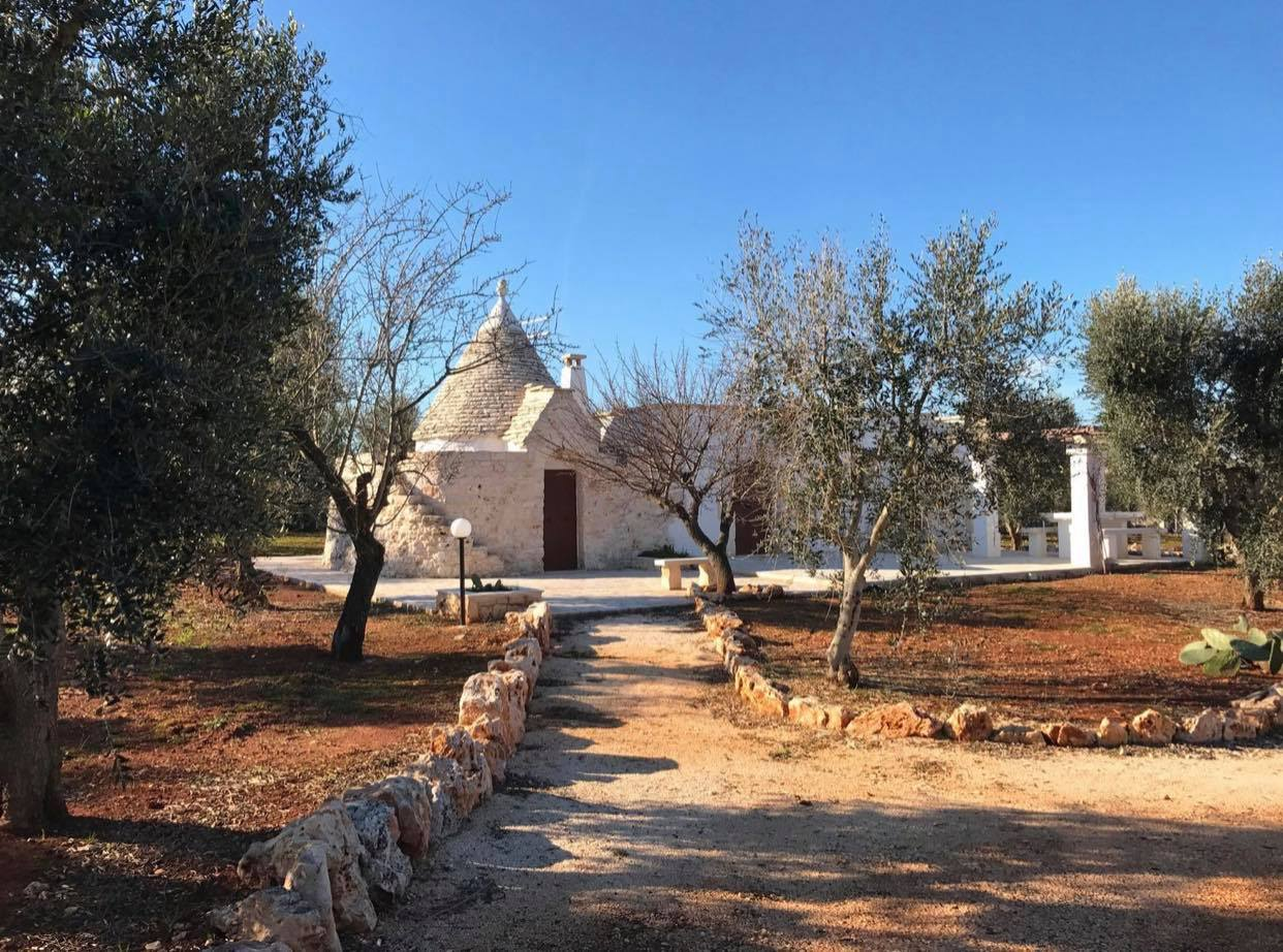Trulli complex with lamia for sale with olive grove